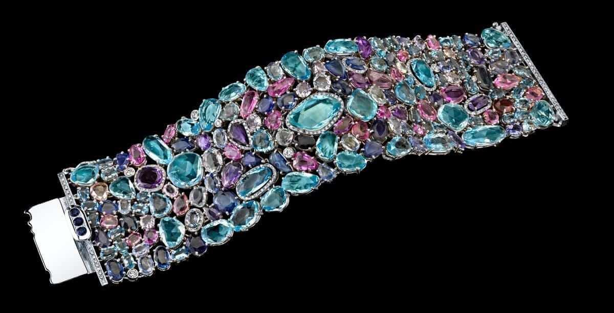 Hubert multicolor gemstone bracelet