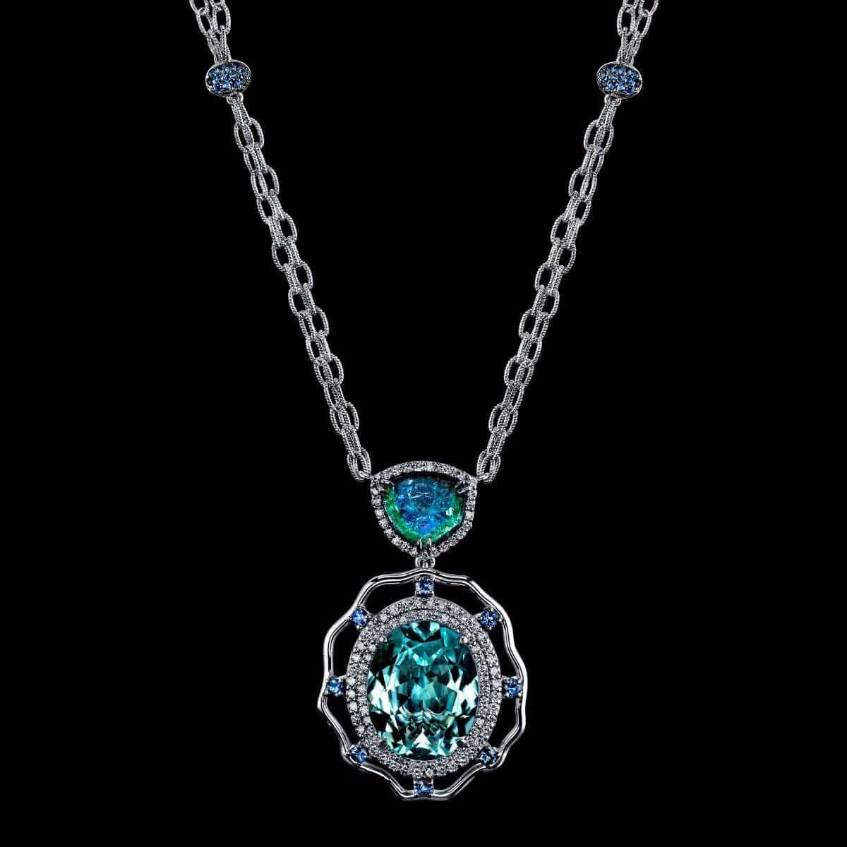 Hubert paraiba tiered necklace